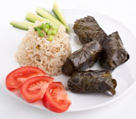 Greek Dolmades stuffed vine leaves