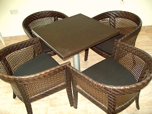 German Made Sun Protected Chairs and Table